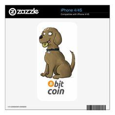 Bit Coin iPhone 4S Decals - dog puppy dogs doggy pup hound love pet best friend