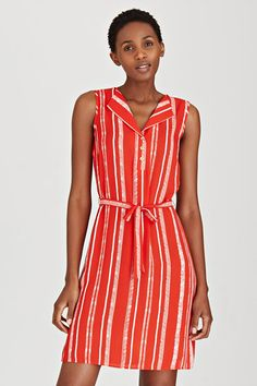 Love a good belted dress, especially when it's striped! Dresses   Contempo Fashion Co-ordinator