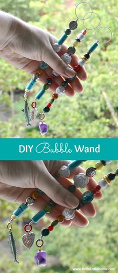 This DIY Bubble Wands is a super fun project that will keep your kids busy all summer!   Hello Little Home
