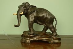 Antiques Atlas - Meiji Period Bronze Elephant