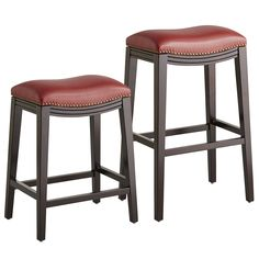 Halsted Backless Bar & Counter Stools - Red | Pier 1 Imports