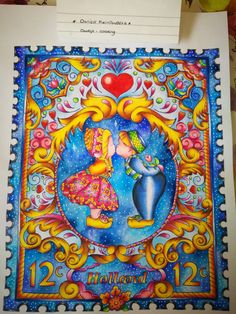 From holland with love, Masja van den Berg  Colored by: Doortje-coloring