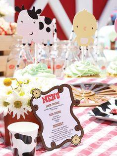 Adorable Barnyard Extravaganza Birthday Party