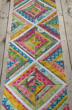 TABLE RUNNER? String Quilt Progress by Fresh Lemons : Faith, via Flickr