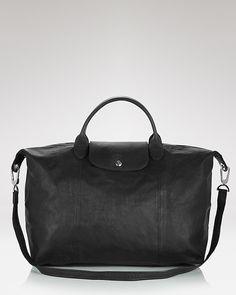 49921062b3ca0 Longchamp Le Pliage Large Leather Satchel