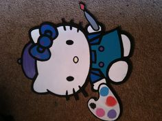 Name plaque 32cm in height  $30 put ur child's name in kitty's dress and then show her off on your child's bedroom door or wall.. All hand made from scratch I use a scroll saw to cut 6ml MDF but u can have any size or thickness you like :-) just email KidsCraftFromTheHeart@hotmail.com  or head over to KidsCraftFromTheHeart via Facebook :-) Cat Dresses, Name Plaques, Bedroom Doors, Scroll Saw, Kid Names, Your Child, Kids Bedroom, Hello Kitty, Crafts For Kids