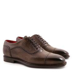 Handmade men's oxfords plain cap toe shoes - Italian Boutique €304