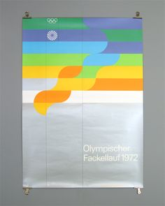 Otl Aicher and the 1972 Munich Olympics - Olympic Torch Relay Poster