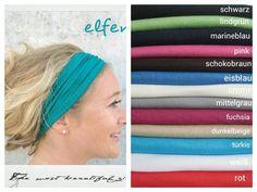 Haarband, 9 cm Breite in Deiner Wunschfarbe von  Maria Elfenbunt auf DaWanda.com