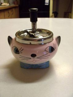 Vintage Holt Howard Era Cozy Kittens Plunger Ashtray by onepommom, $49.99