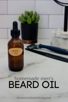 This Homemade Conditioning Beard Oil recipe promotes a healthy, neat, and well-groomed beard Essential Oil For Men, Oils For Men, Young Living Essential Oils, Homemade Beard Oil, Mens Beard Oil, Well Groomed Beard, Natural Haircare, Natural Skin, Diy Shampoo