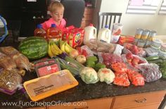 How to feed a family of 5 on just $500/mo in (healthy) groceries...including diapers, toiletries, dog food, and everything in-between. Includes printables to help! #printables #groceries #cooking #budget