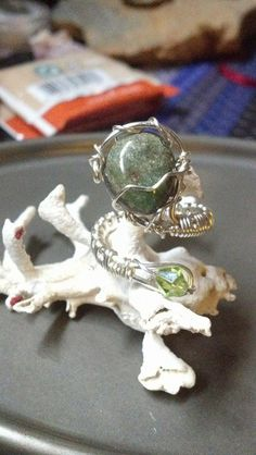 Wire Wrapped Emerald Ring. by ShaysStones on Etsy, $20.00