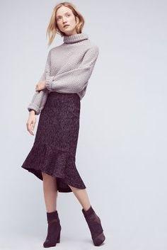 Audrey Tweed Trumpet Skirt   Anthropologie