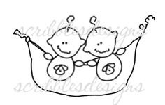 $3.00 Baby Pea Pod Twin Boys Digital Stamp  (http://buyscribblesdesigns.blogspot.ca/2012/12/105-baby-pea-pod-twin-boys-300.html) digital stamps, digis, scribbles designs, twin boys, baby, baby boy, puppy, pea pod, twins