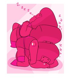 """jen-iii: """"Even though they don't need sleep, Punching things all day tend to wear a Gem out. Good thing Rubies are space efficient. """""""