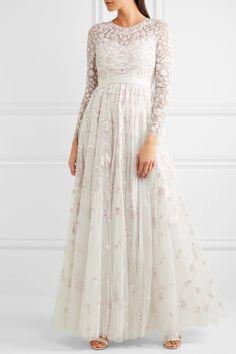Rosette embellished embroidered tulle gown       https://www.net-a-porter.com/us/en/product/838257?cm_mmc=LinkshareUS-_-J84DHJLQkR4-_-Custom-_-LinkBuilder&siteID=J84DHJLQkR4-V196Wi1F4FSdsiCa7gmXrQ&ShopStyle+%28POPSUGAR%29=ShopStyle+%28POPSUGAR%29