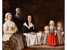 Antoine le Nain, - 1588 – 1648 Paris - DREI FRAUEN MIT DREI KINDERN, UM 1640 - [...], Beaux-Arts à Hampel Fine Art Auctions | Auction.fr