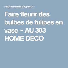 Faire fleurir des bulbes de tulipes en vase ~ AU 303 HOME DECO