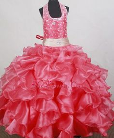 Sweet Beading and Ruffles Decorate Ball Gown Little Girl pageant Dress