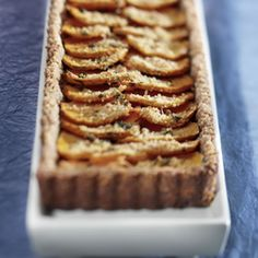 Sweet Potato Tart with Walnut Crust.