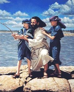 Jesus with children by Sheila Ninowski [don't you want to be there with Him and the children?] <-----Oh yeah! Pictures Of Christ, Bible Pictures, Jesus Is Risen, Jesus Is Lord, Lds Art, Bible Art, Jesus Art, The Good Shepherd, Jesus Loves You
