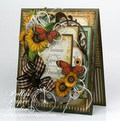 Sunflowers and Butterflies All Occasion Greeting Card Handmade