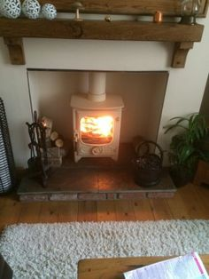 Charnwood Country 4 multi fuel log burner in almond colour | eBay