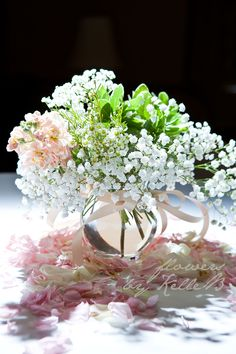 Baby's Breath Centerpiece - Flowers by Kelle B   Photography by Amy Rose King