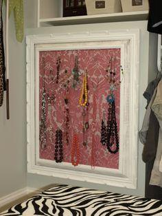 Framed Jewelry Organizer