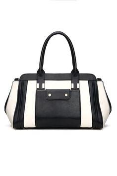 European Black and White Contrast Handbag [FPB572]- US$ 74.99 - PersunMall.com