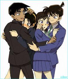 Detective conan | Heiji + Kazuha and Shinichi + Ran <3