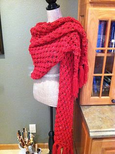 Free Pattern: Knotted Openwork Stitch Prayer Shawl by Louis Chicquette