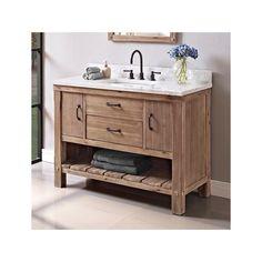 Fairmont Designs 1507-VH48 Napa Sonoma Sand Bathroom Vanity with Open Shelf 48 x 21-5/16 x 34-1/2<br><li>Door: 2<br><br><li>Drawer: 1<br><br><li>Shelf: 1 (open-fixed)<br>  #bathroomideas 3bathroomdesigns #bathoomremodel #dreambath