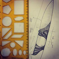 """3 Beğenme, 1 Yorum - Instagram'da @ankaknife: """"#knife #knifemaker #knifedrawing #hanfmade #handmadeknife #ankaknife #knifelover #m390 #customknife"""""""