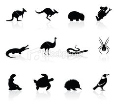 Aussie animal silhouettes for brooches