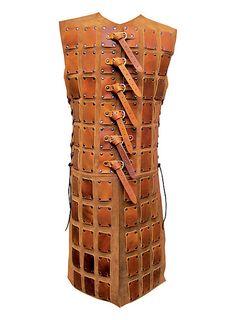 Lange Brigantine aus Leder hellbraun   #leather #brown #larp