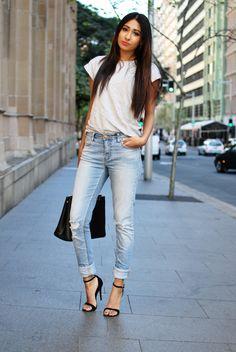 Jeans / Glassons . T-Shirt / Glassons . Heels / Windsor Smith . Bag / Prada