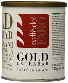 Caffe' del Faro Whole Bean Coffee, Gold Extra Bar, 8.8 Ounce >>> Visit the image link more details.
