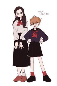 Pretty Art, Cute Art, Character Illustration, Illustration Art, Animation Storyboard, Korean Art, Female Character Design, Aesthetic Art, Cute Drawings