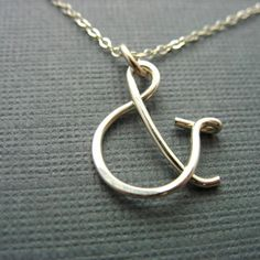Sterling Silver Ampersand Charm Pendant Only por winsomecreations