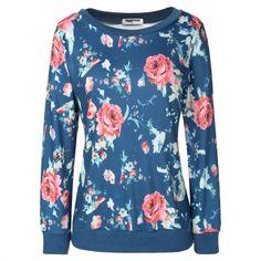 Zeagoo Women Fashion Floral Printed Pullover Hoodies
