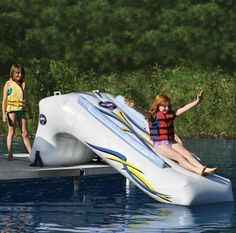 Inflatable Lake Slide