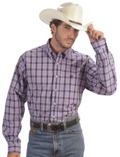 Cinch ® Purple Plaid Weave Shirt available at #Sheplers