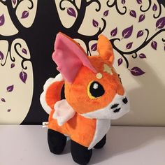 Taking a short break from drawing to make a winged celestial fox plushie! #plushies #plushieart #plushforsale #plushiesforsale #plushiesofinstagram #plushiesoninstagram #plushtoy #plushtoys #stuffedanimals #fox #foxplush #foxplushie #handmade #sewing #sewingproject #sewinglikeaboss #sewinglife #artistsoninstagram #artistsofinstagram #foxart #etsyseller #etsyshop Pattern by Choly Knight