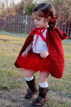 Little Red Riding Hood Costume Cape & Tutu, Halloween Costume, Photography Prop. $50.00, via Etsy.