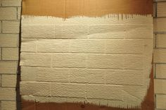 Timber and Lace: Faux Brick Wall Tutorial