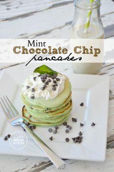 MInt Chocolate pancakes.