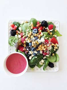 Mixed Berry Spring Salad Leave off the bleu cheese for dairy free