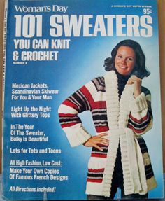 Vintage Woman's Day Magazine 101 Sweaters Number 8 1975